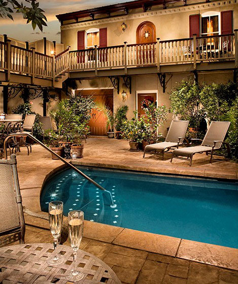 Dipping Pool and Courtyard at McMillan Inn Savannah GA