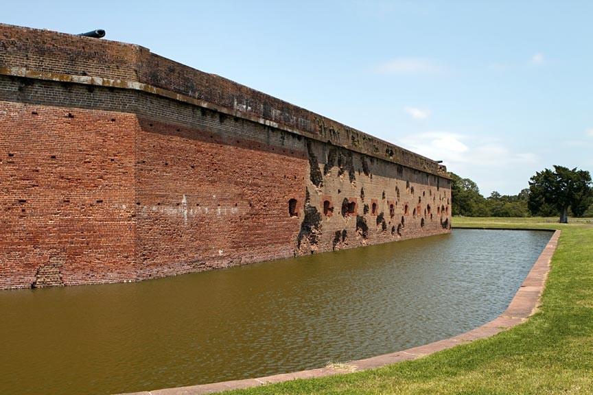 Fort Pulaski National Monument - damaged walls