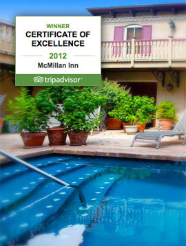 The pool and TripAdvisor award
