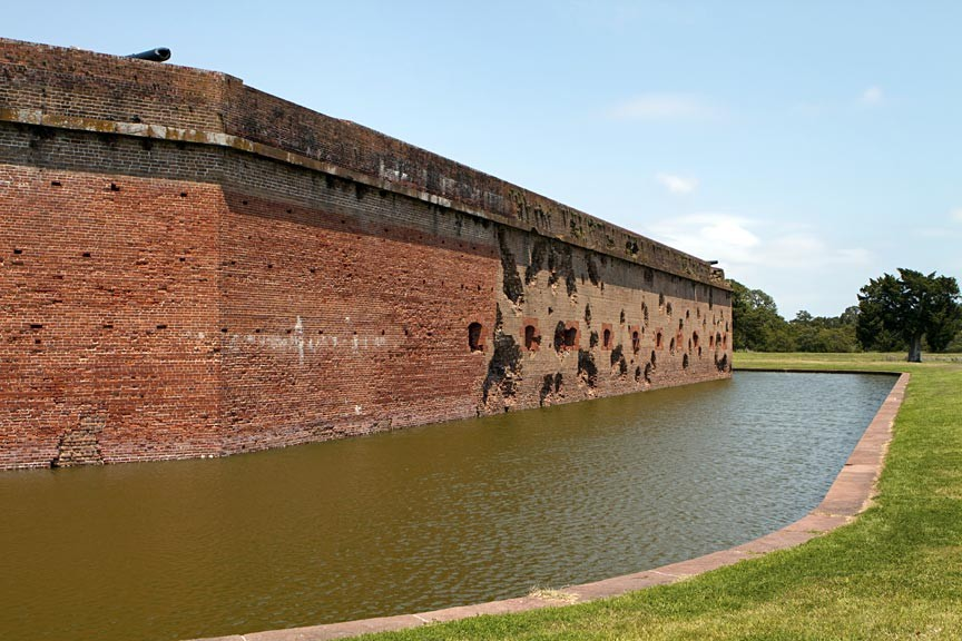 Fort Pulaski National Monument - damaged walls