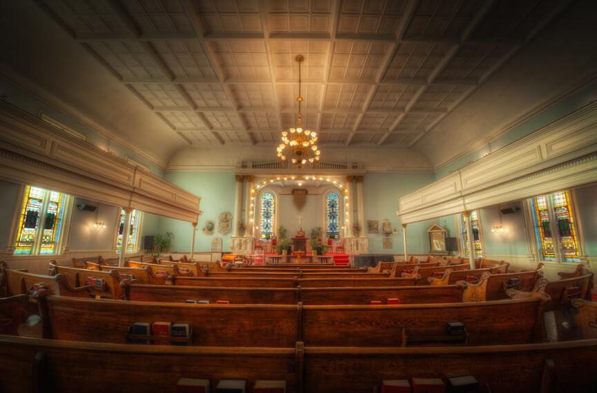inside the First African Baptist Church of Savannah