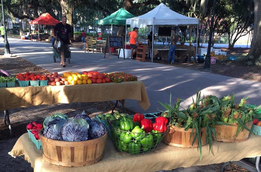 Forsyth Farmers' Market vendor table